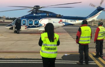 We also perform handling to helicopters