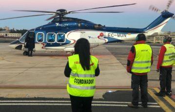 Realizamos también el handling a helicópteros